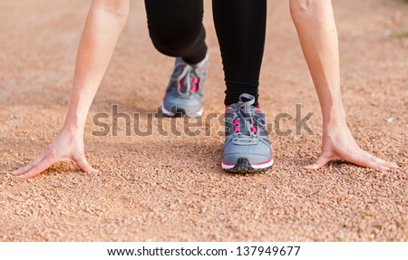 The beneficial effects of the run for a healthy life - stock photo