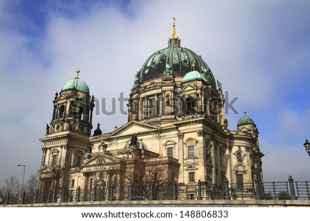 The Berlin Cathedral on the northern part of the Spree Island - stock photo