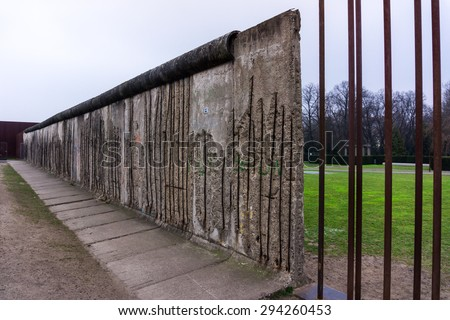 The Berlin Wall. Berlin Wall Memorial at Bernauer strasse - stock photo