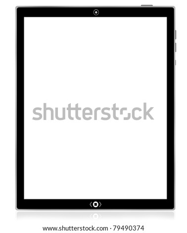 The best blank PC tablet computer - stock photo