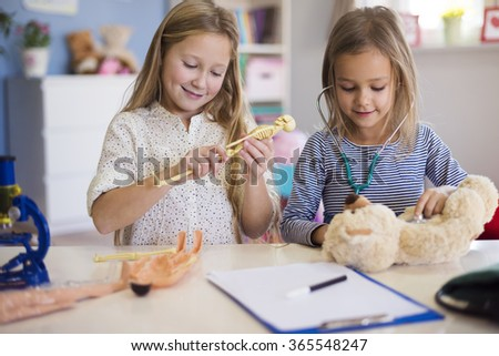The best fun only together - stock photo