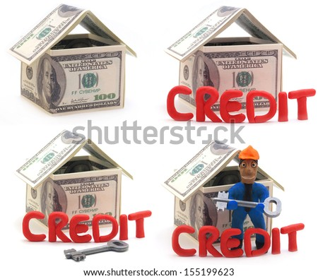 The best offer of real estate on credit - stock photo