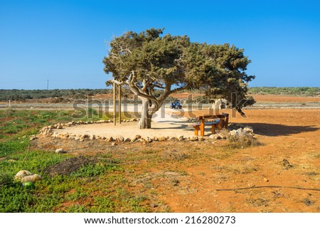 The best way to travel on Cyprus is the quad or bike, that will take you everywhere you want, Cape Greco. - stock photo