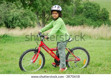 The bicyclist - stock photo