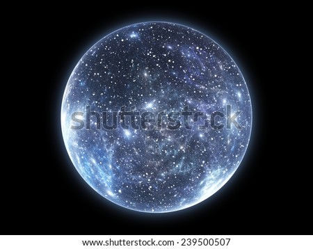 The Big Bang and the Expansion of the Universe - stock photo