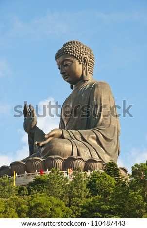 The Big Buddha Statue, Lantau Island - stock photo