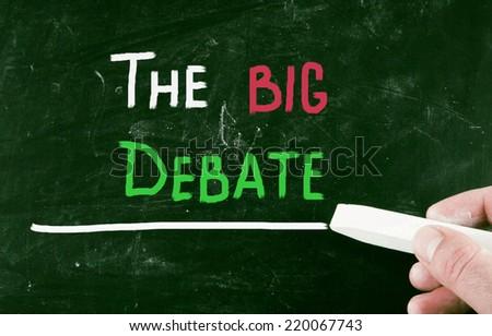 the big debate concept - stock photo