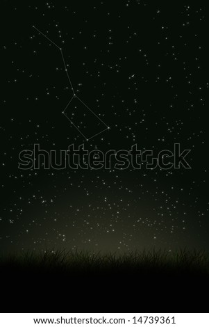 The Big Dipper - stock photo