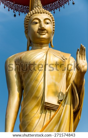 the big of Buddha statue at Wat Doi Ti, Lamphun, Thailand - stock photo