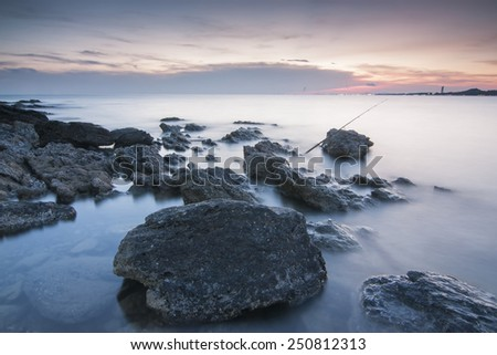 the big rocks - stock photo