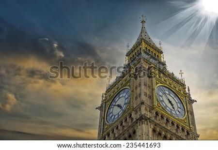The BigBen in London. - stock photo