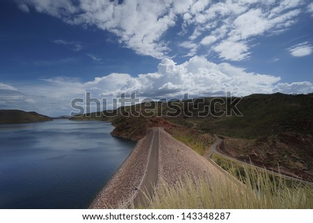 The biggest dam in Western Australia, Australia. - stock photo