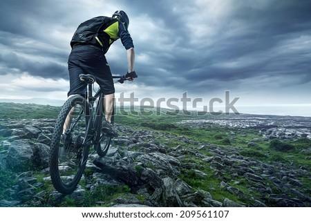 The Biker - stock photo