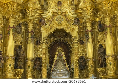 The Blessed El Rocio - spain - stock photo