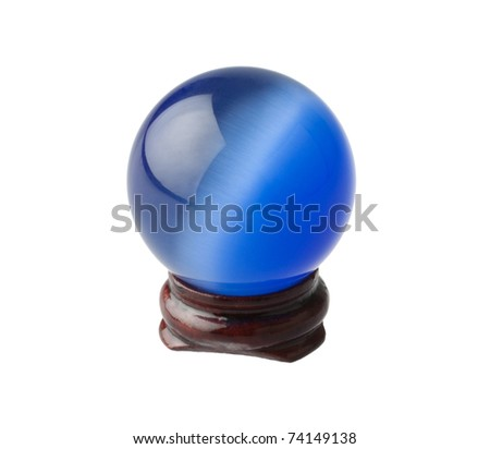 The blue crystal magic ball - stock photo