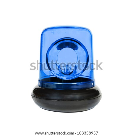 The Blue Flasher isolated - stock photo