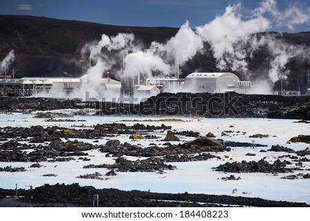 The Blue Lagoon geothermal bath resort in Iceland - stock photo
