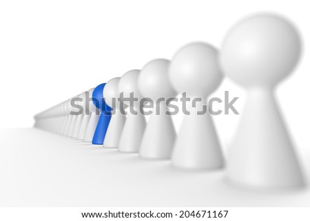 the blue leader concept 4 - stock photo