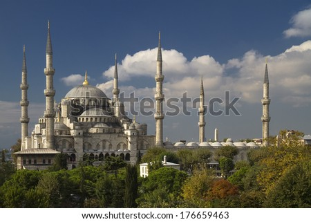 The Blue Mosque in Istanbul Turkey - stock photo