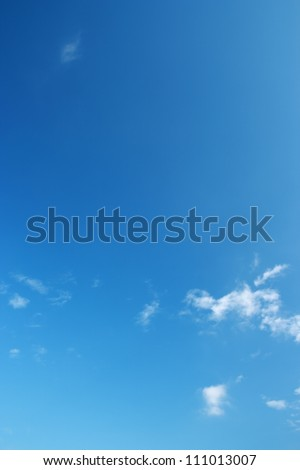 The blue sky and white clouds. - stock photo