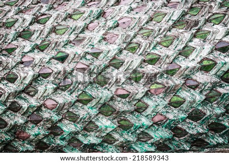 The body of a green dragon background texture - stock photo