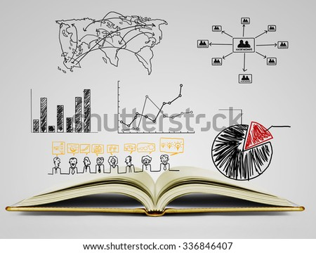 The book of fantasy stories  - stock photo