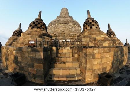 The Borobudur Temple.  - stock photo