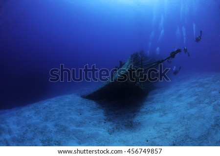 The bow of the M.V. Keith Tibbetts wreck - stock photo