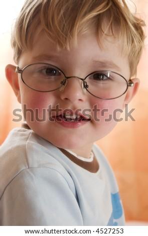 The boy writes letter Santa Claus - stock photo