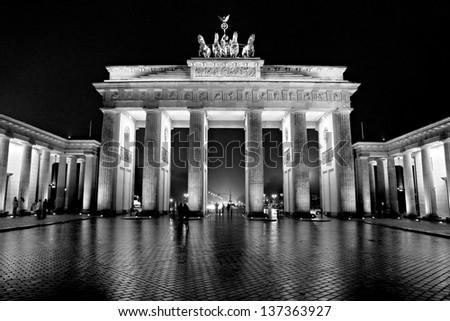 The Brandenburg Gate, Berlin. - stock photo
