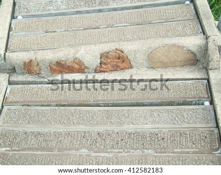 The  bricks  on  the  pavement - stock photo