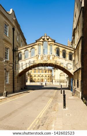 The Bridge of Sighs, Oxford, Oxfordshire, England - stock photo