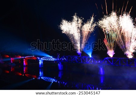 The Bridge of the River Kwai festival, Kanchanaburi Province, Thailand - stock photo