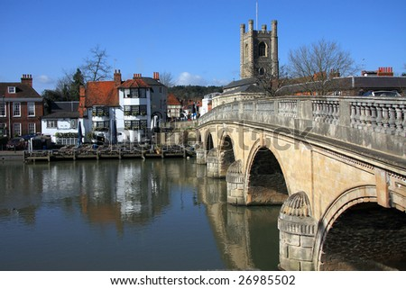 The bridge over the River Thames at Henley in Oxfordshire England - stock photo