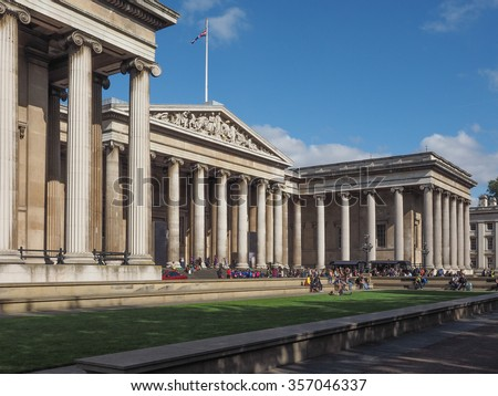 The British Museum in London, England, UK - stock photo