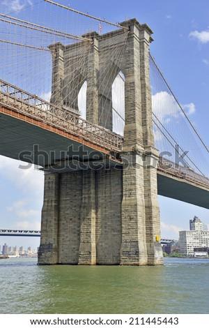 The Brooklyn Bridge, New York City - stock photo