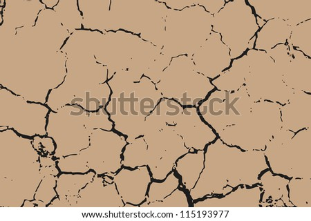 The brown earth with cracks texture. - stock photo