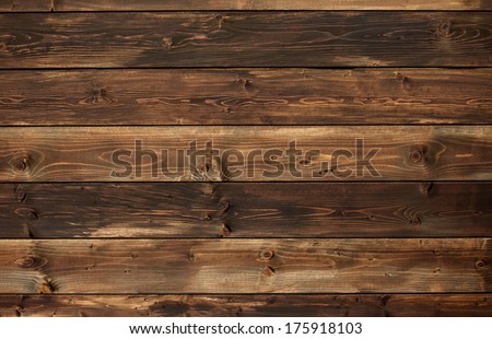 the brown old wood texture with knot  - stock photo