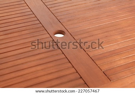 the brown wood texture with natural patterns (close up of table)  - stock photo