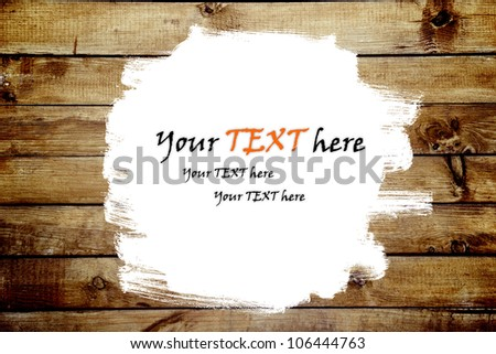 the brown wood texture with white paint space - stock photo