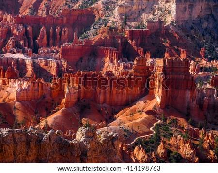 The Bryce Canyon National Park, Utah, United States - stock photo