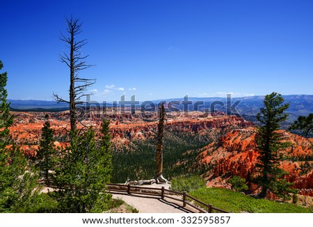 The Bryce Canyon National Park, Utah, United States, panoramic view - stock photo