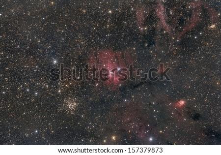The Bubble Nebula - stock photo