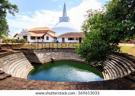 The Buddhist stupa in Anuradhapura, Sri Lanka - stock photo