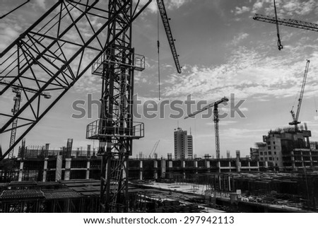 The building construction site - stock photo
