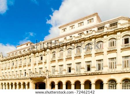 the building in Havana, Cuba - stock photo