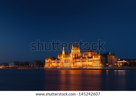 The Building of Parliament in Budapest, Hungary - stock photo