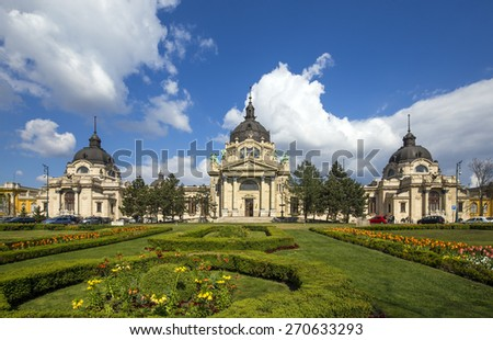 The building of the Szechenyi Spa, Budapest - stock photo