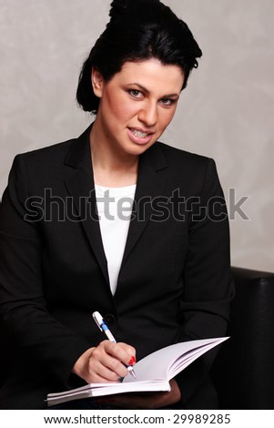 The business young woman - stock photo