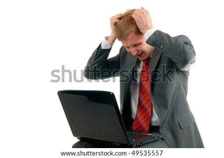 The businessman has received very bad news - stock photo